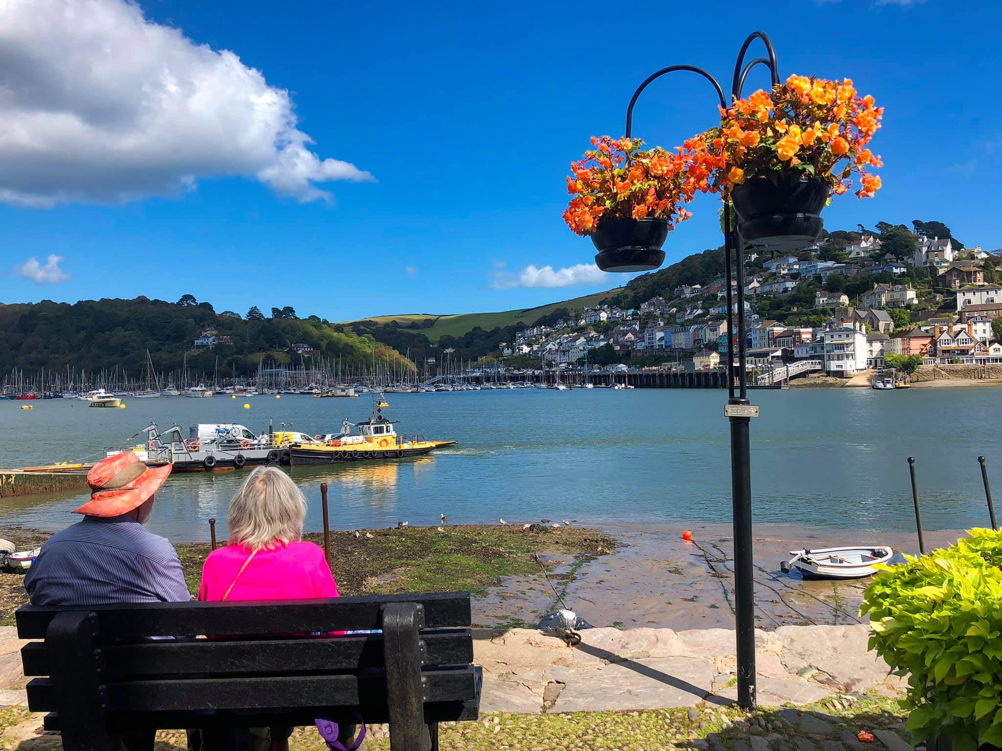 Couple on bench at Bayards Cove