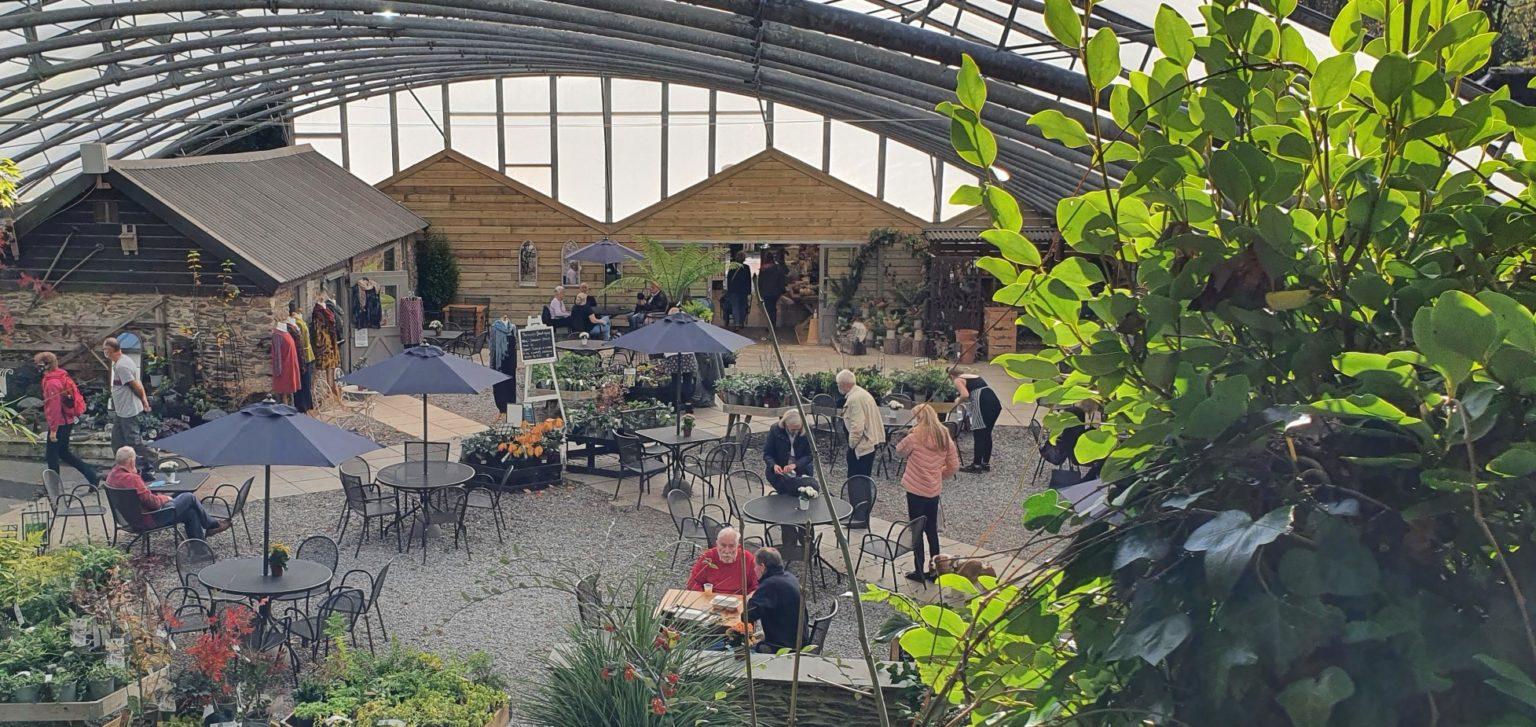 Avon Mill Garden Centre - Cafe under the canopy